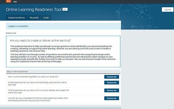 online-learning-tool-start-screen