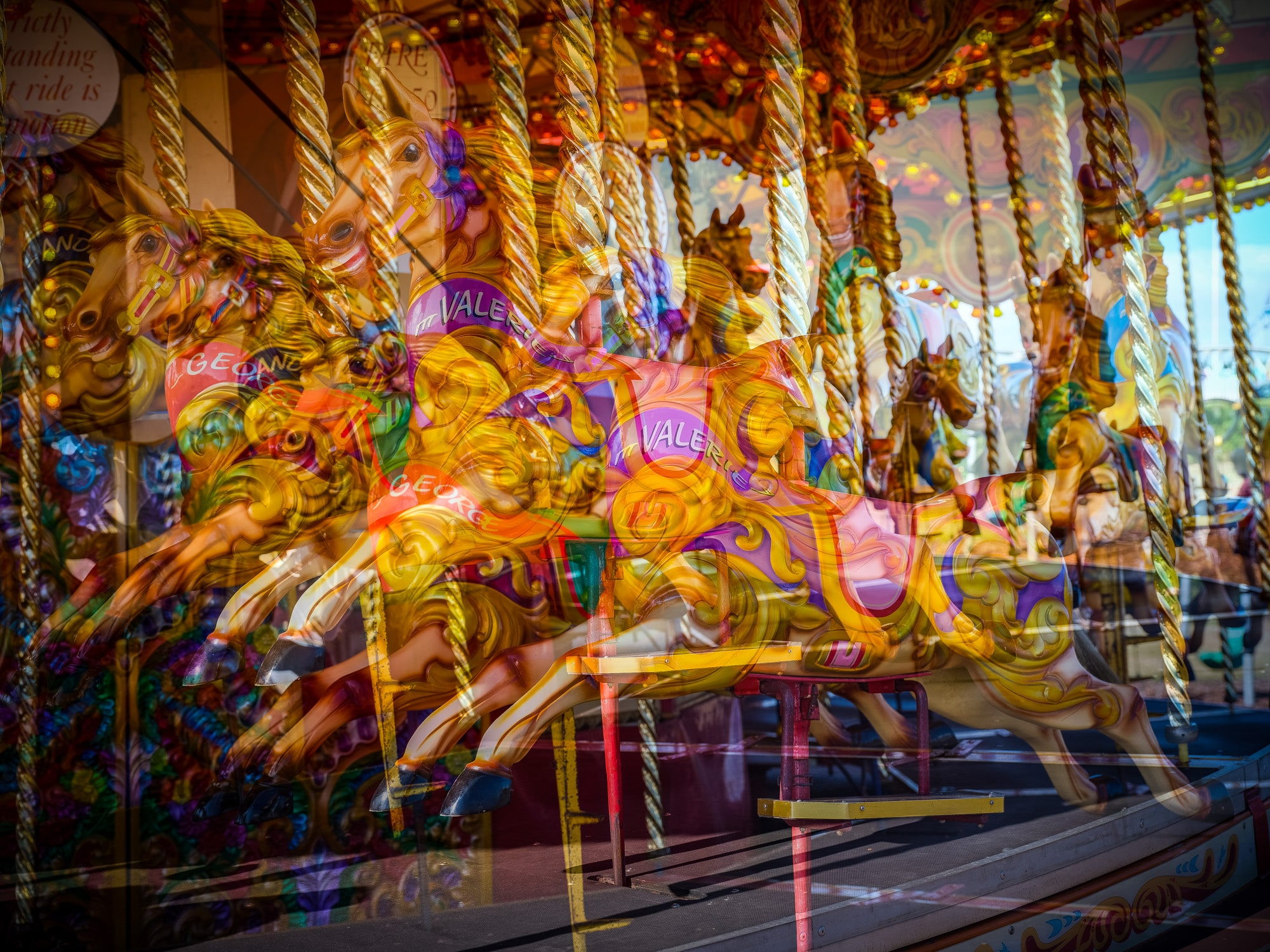 carousel multiple exposure