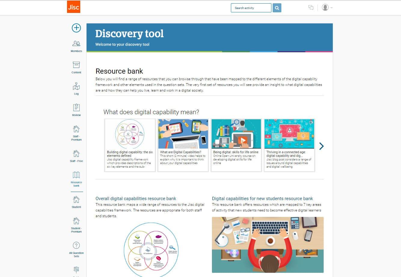 Jisc discovery tool